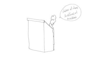 Martine 'croquée' par la dessinatrice Albertine